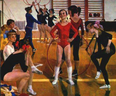 Сочинение по картине «Детская спортивная школа»
